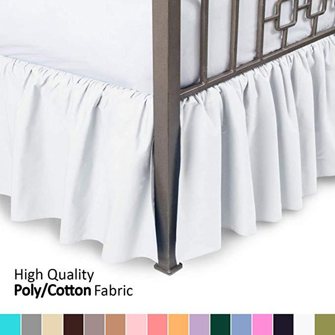 Bedroom Bed Skirt Elastic Bed Apron Box Spring Bed Frame Hide Skirt Machine Wash