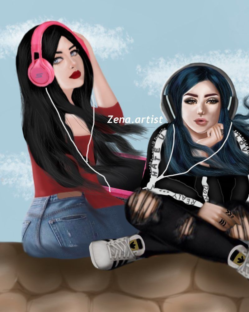 Pin By فطومة On Girly M Cute Girl Drawing Best Friend Drawings Bff Drawings