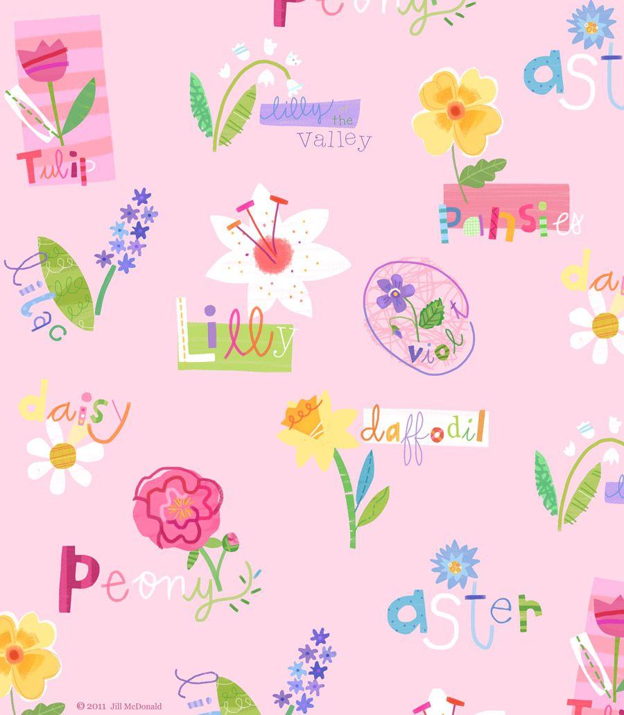 Pretty flower pattern fun backgrounds pinterest pretty flower pattern mightylinksfo
