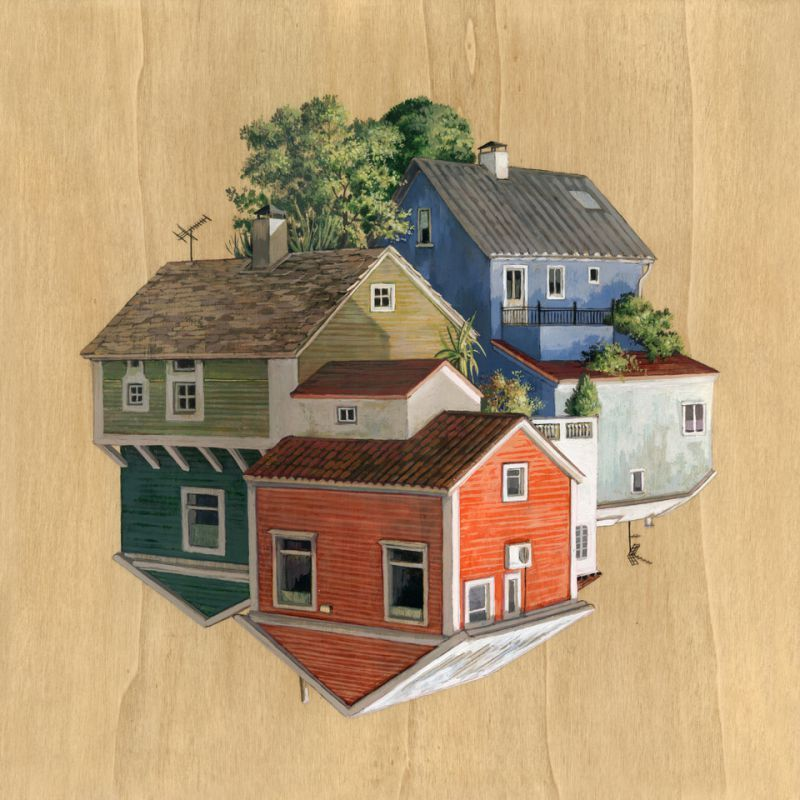 Charmant 13 Islandia Cinta Vidal Agulló Multi Directional Surreal Architecture  Drawings And Paintings Www Designstack Co