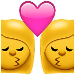 Kiss With Two Women Emoji U 1f469 U 0d U 2764 U Fe0f U 0d U 1f48b U 0d U 1f469 Emoji Kiss Emoji Kiss