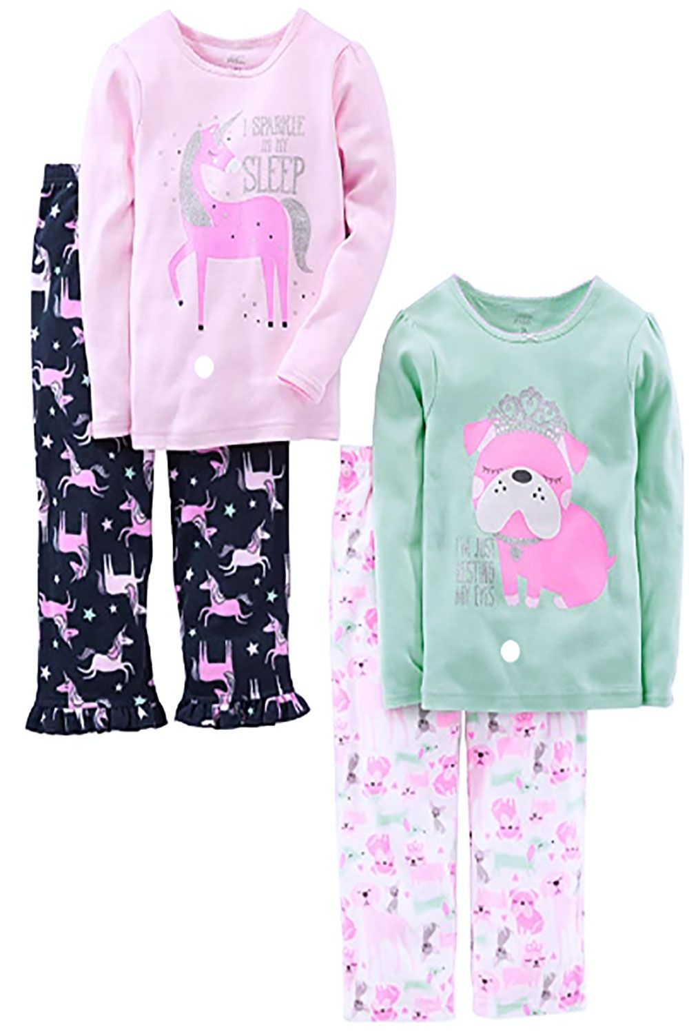 Simple Joys by Carters Toddler Boys 4-Piece Loose Fit Polyester Pajama Set