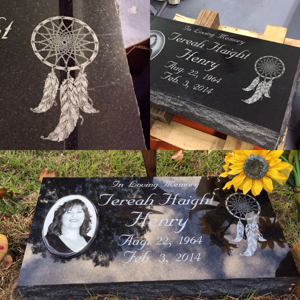 Here Are Our 12x24 Inch Premium Picked Natural Granite Stone Bevel Markers Inlovingmemory Laser Memory Dreamcatcher Remembering Mom Headstones Monument