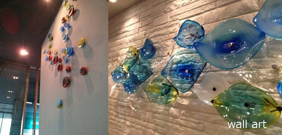 Tsunami Glassworks wall installation