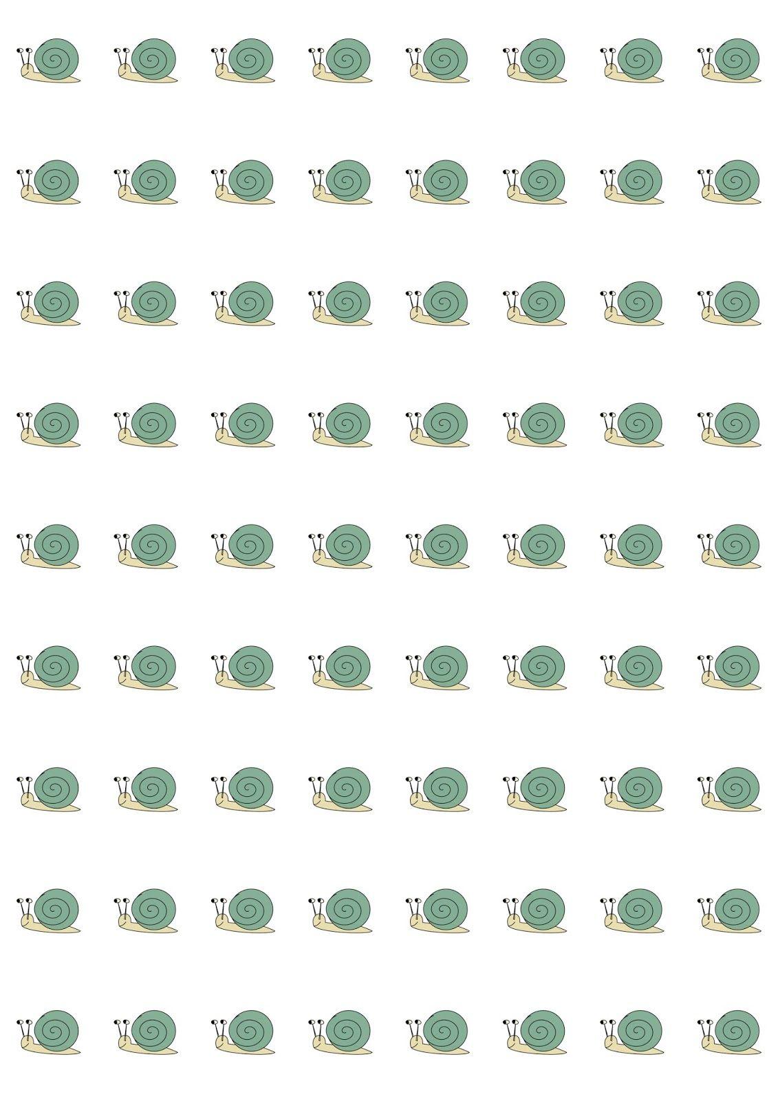 free digital funny snail scrapbooking paper - ausdruckbares