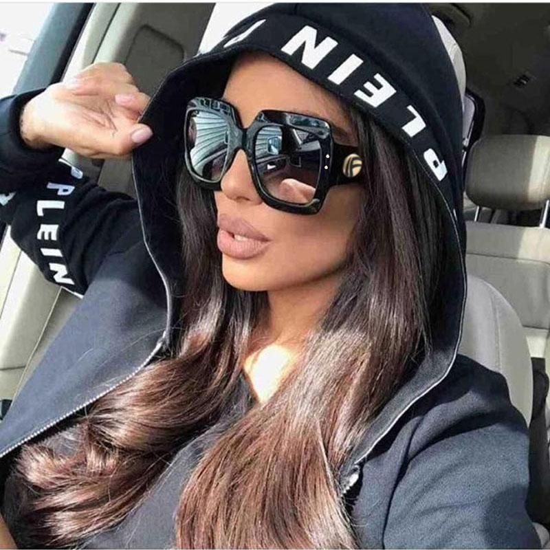 986d4ddbf7f OFIR 2018 Newest Oversized Square Sunglasses Women Luxury Brand Designer  Red Green Sun Glasses Female Vintage Shades Eyewear
