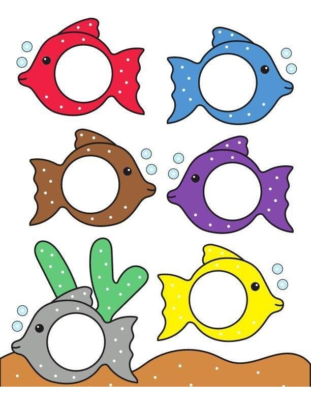 fish theme color match 1 print out pinterest color