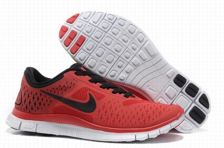 Nike Free 4.0 V2 Homme Rouge Noir FR-QX1032