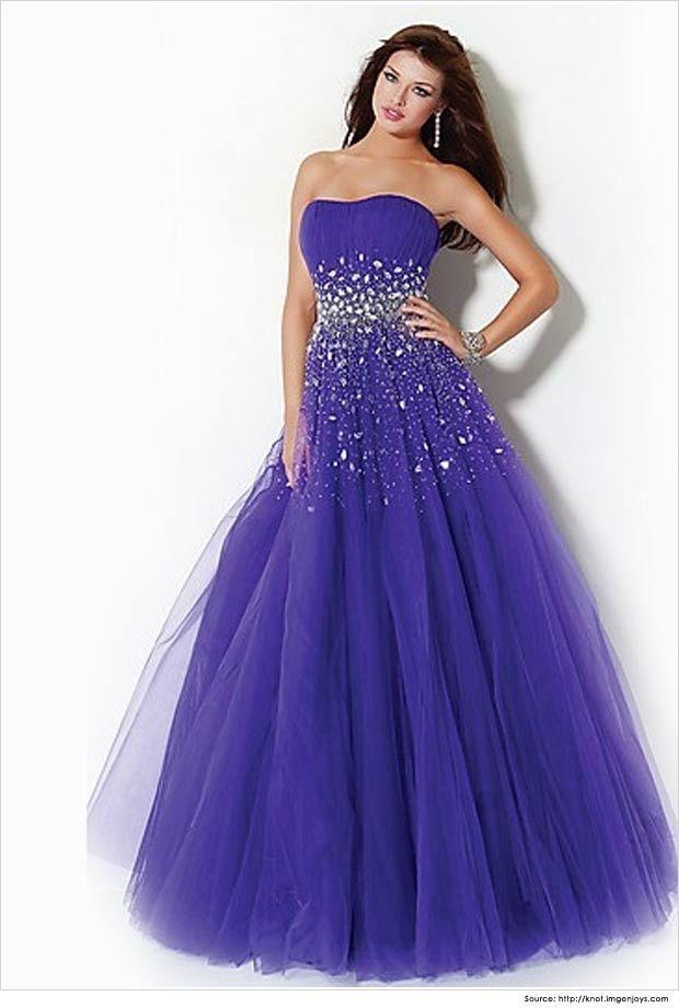 Dresses-for-teenagers-Violet-Blue-A-line-dress.jpg | Dresses ...