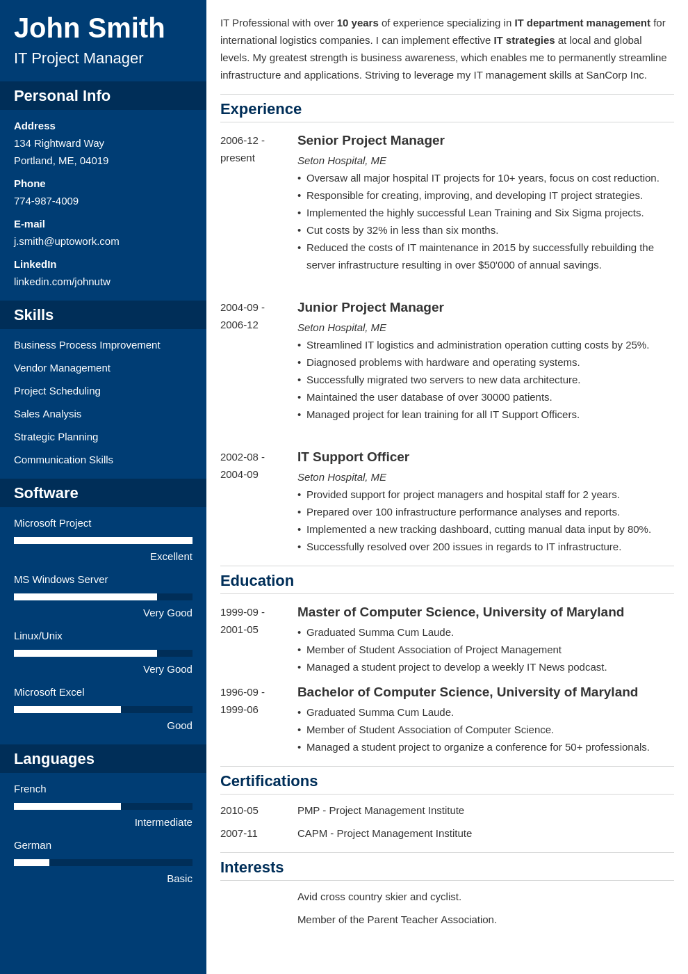 Free Resume Templates Uptowork Resume template free