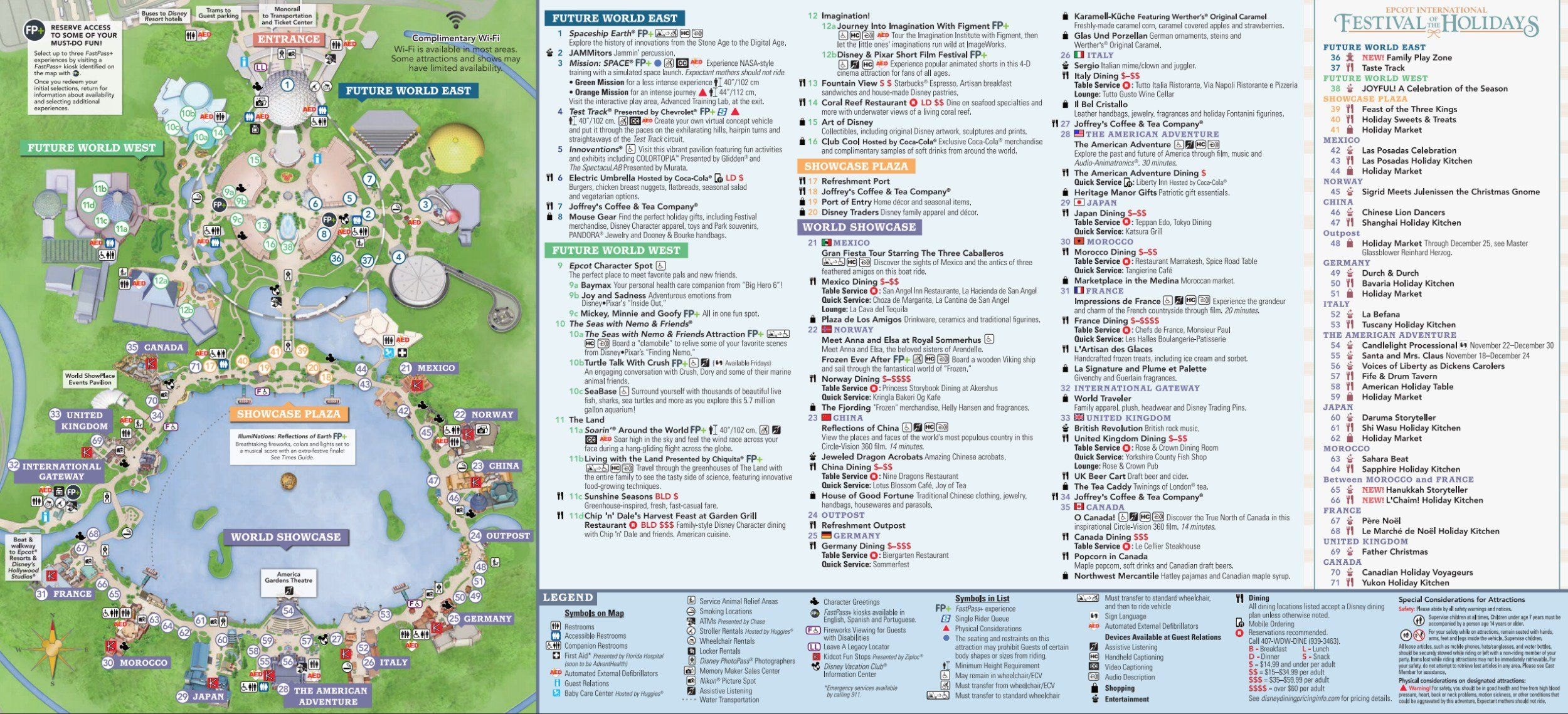 Map of Epcot at Walt Disney World | Disney World in 2019 ...