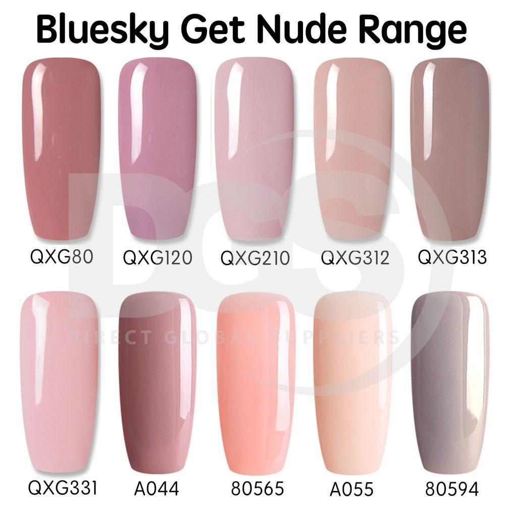 Details about Bluesky GET NUDE 2 Collection UV LED Soak Off Gel Nail ...