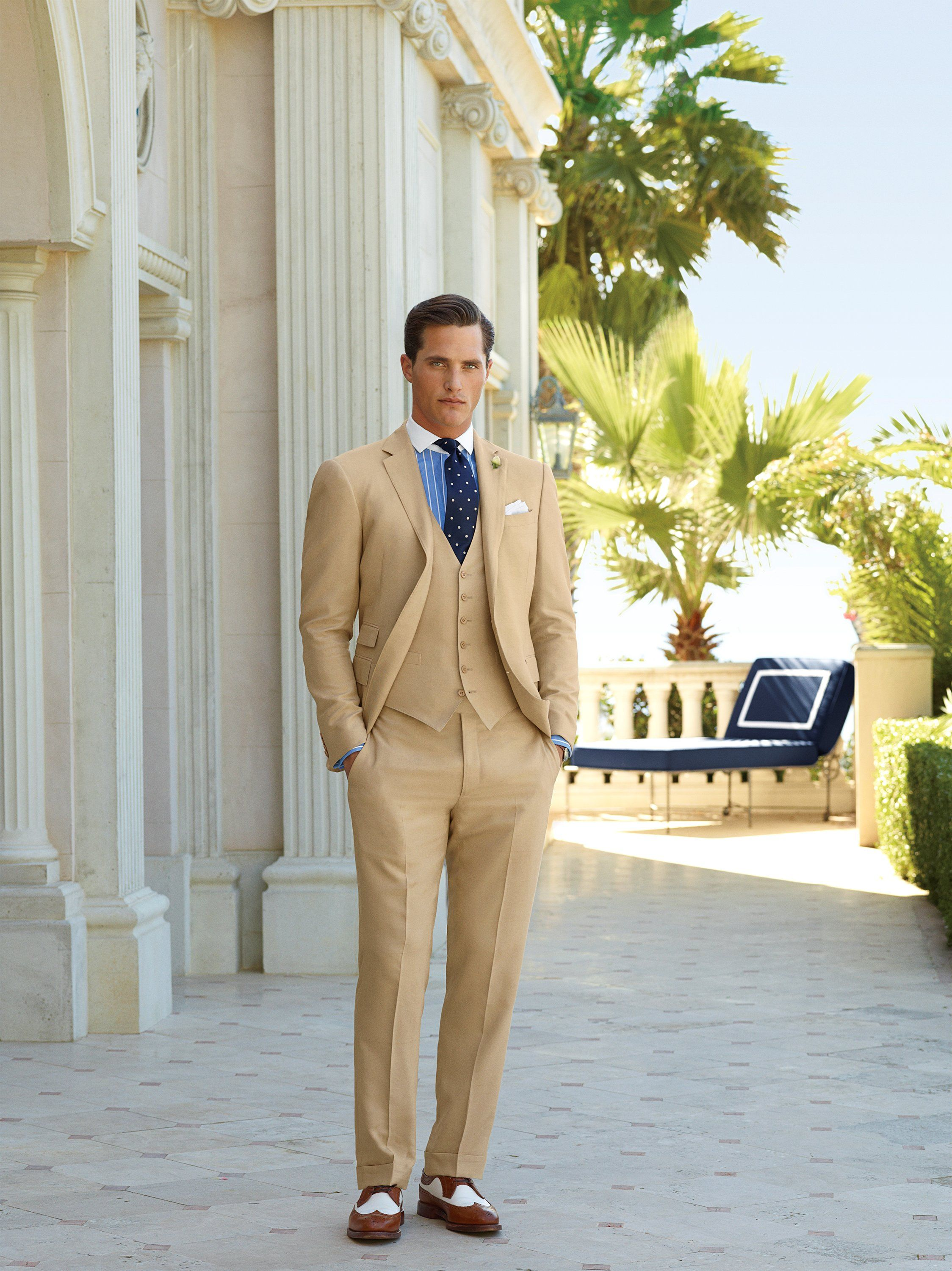 Ollie Rl Purple Label Linen Tailored 2013 Well Dressed