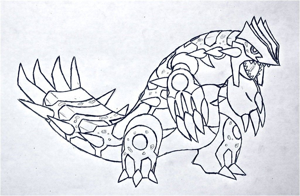 Coloriage Pokemon Primal Groudon In 2020 Free Food Girl Drawing
