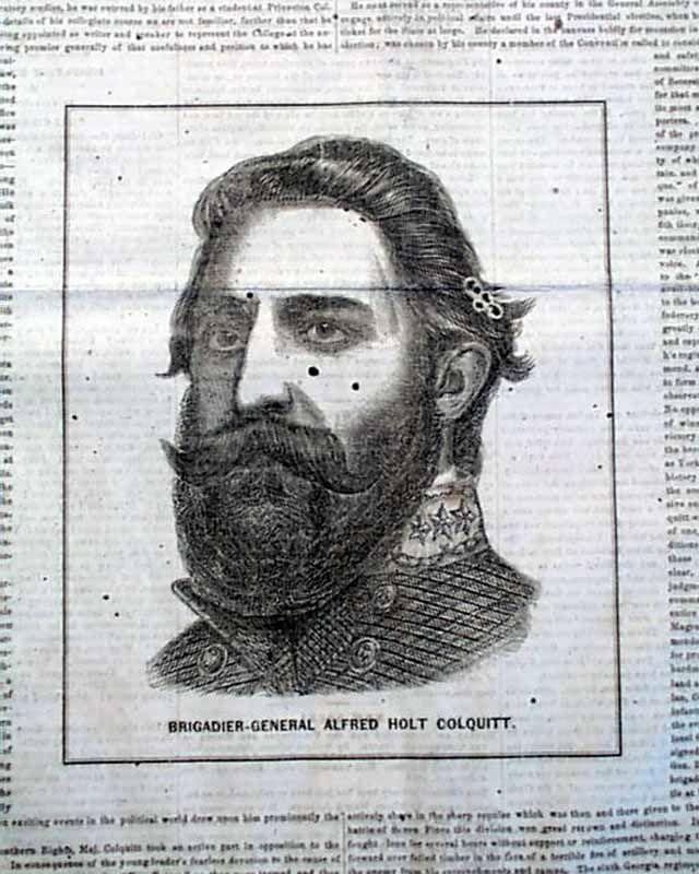 Brigadier-General Alfred Holt Colquitt...