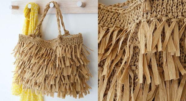 Le sac franges en tricot franges le sac et sac - Sac en tricot a faire soi meme ...