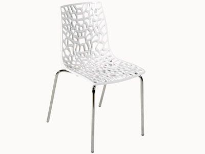Meubles Cuisine Chaises Chaise Groove En Polycarbonate Blanc Et Metal Chrome Code Article 214208 Mobilier De Salon Chaise Meuble Cuisine