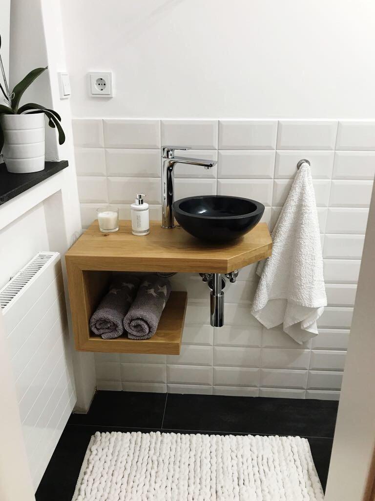 Waschtisch Eiche Massiv Waschtischplatte Massivholz Amazon De Baumarkt In 2020 Waschtischplatte Badezimmer Mobel Unterschrank