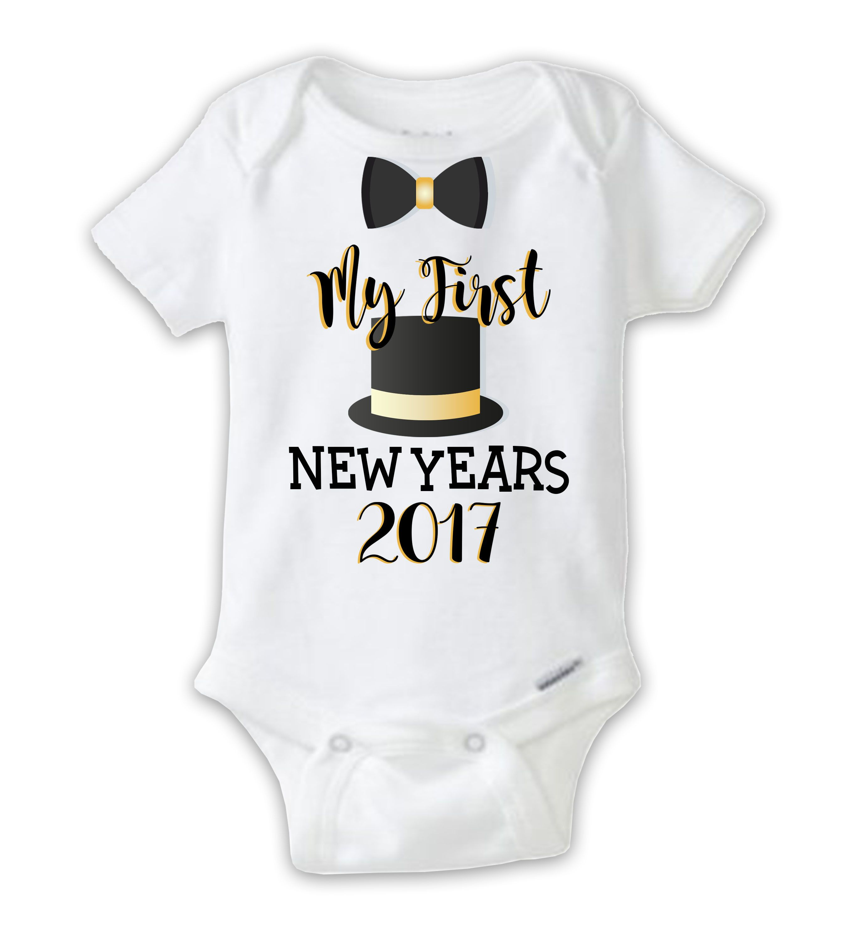 Baby Boy First New Year Onesie, My First New Years