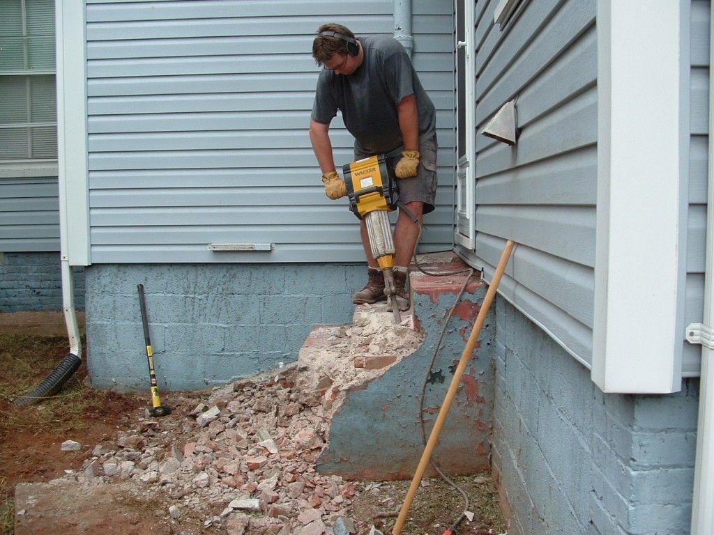 How To Remove Concrete Steps And Slabs Revolutionary Gardens