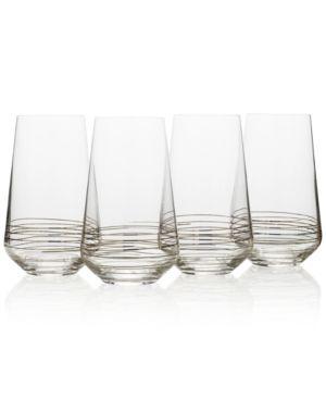Mikasa Electric Boulevard 4-Pc. Highball Glass Set - Silver