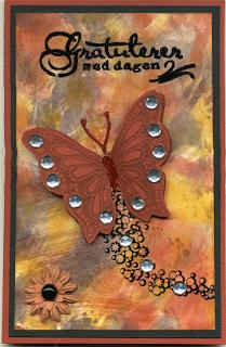 Et sommerfugl kort til onkel 2009