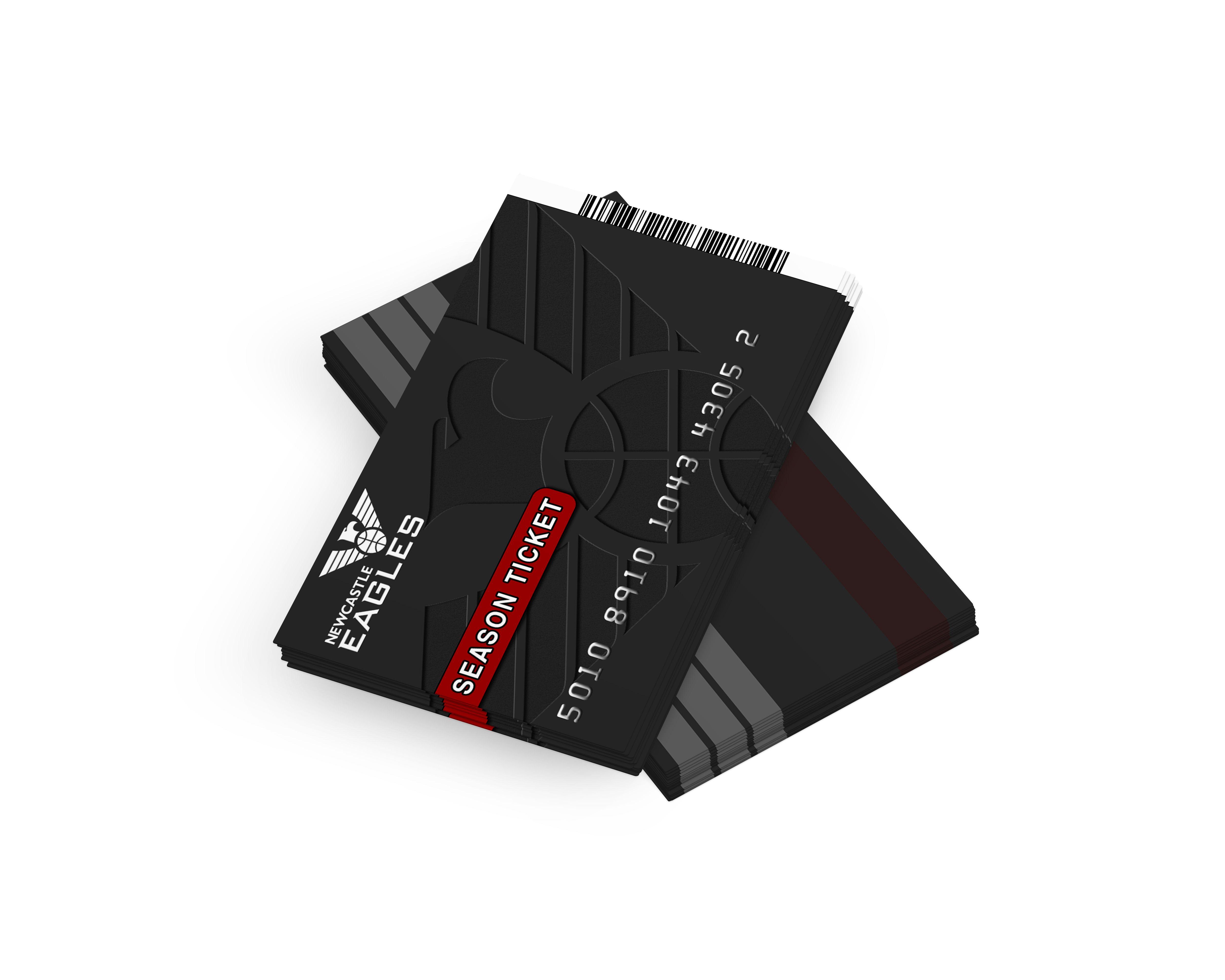 Newcastle Eagles, Plastic Season Ticket, Card Design | Business ...