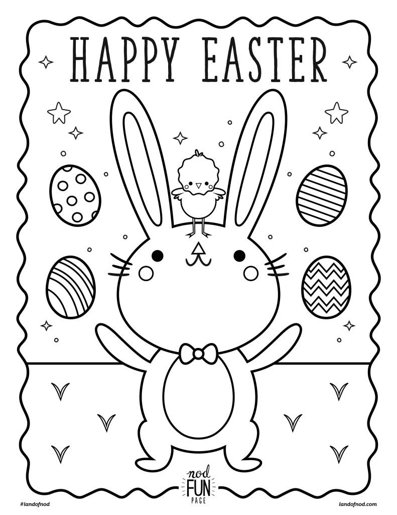 Nod Printable Coloring Page: Easter | Coloring Pages & Drawing Steps ...