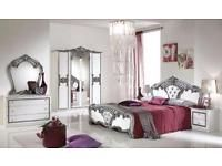 Italienisches Schlafzimmer Weiss Silber Barock Luxus Mitte   Hamburg  Altstadt Vorschau