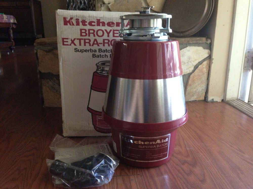 New Kitchenaid 1hp Batch Feed Garbage Disposal Red Disposer Kbds250 Ebay Shopping Estate Sale Finds Alembika