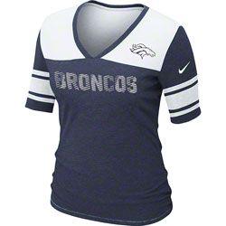 Nike Denver Broncos Touchdown Women's V-Neck