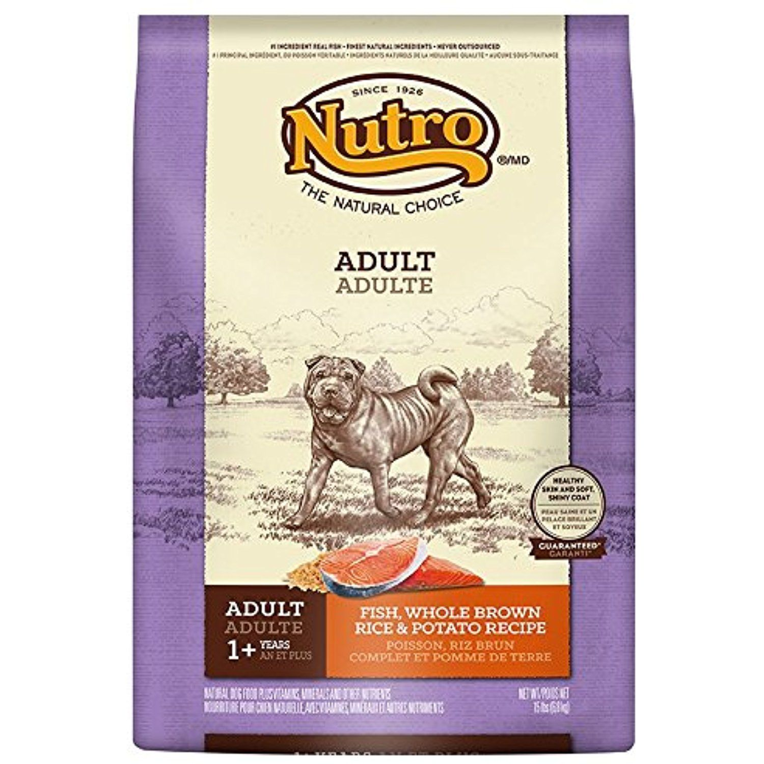 Nutro sensitive stomach dry dog food fish brown rice and