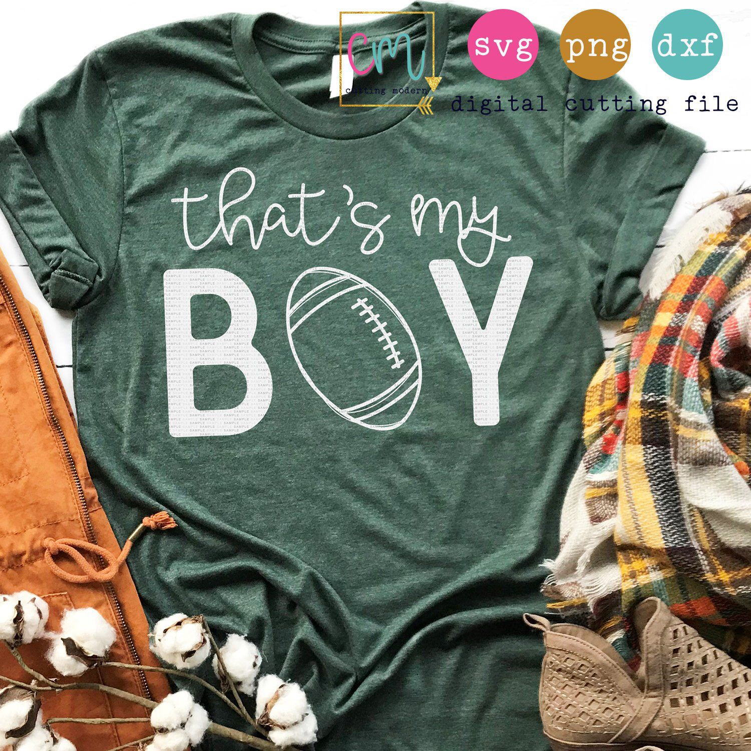 That's My Boy| Football Cut File| Football Mom Svg |Fall SVG, PNG, DXF Silhouette Cameo and Cricut Files