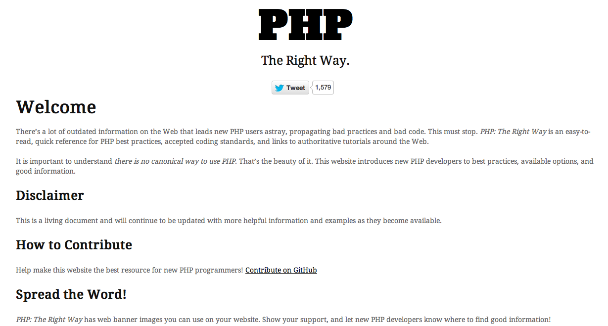 PHP THE RIGHT WAY PDF DOWNLOAD