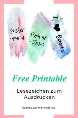 Gut bekannt Free Printable - Lesezeichen zum Ausdrucken | Printables JH94