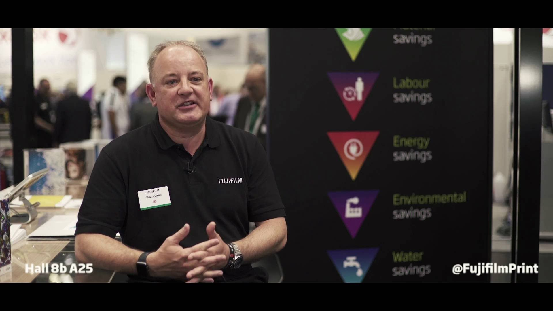 Sean Lane, Group product manager - for offset solutions at drupa 2016 talks through the SUPERIA solutions from Fujifilm