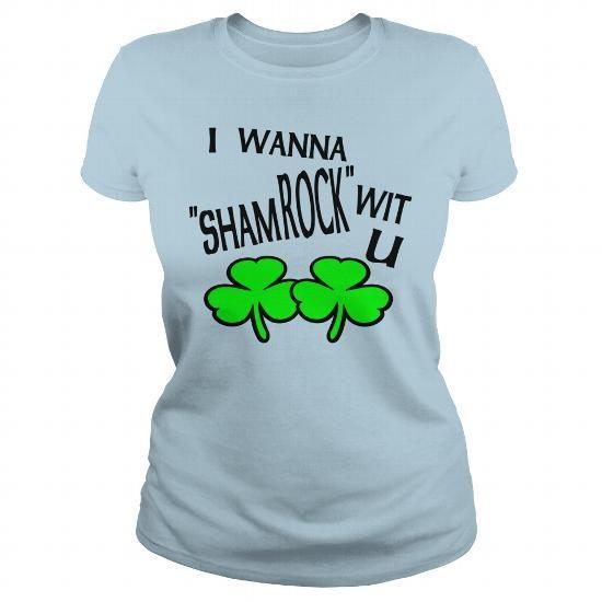 Moss I Wanna ShamROCK Wit U Tanks  Womens Longer Length Fitted Tank #sunfrogshirt