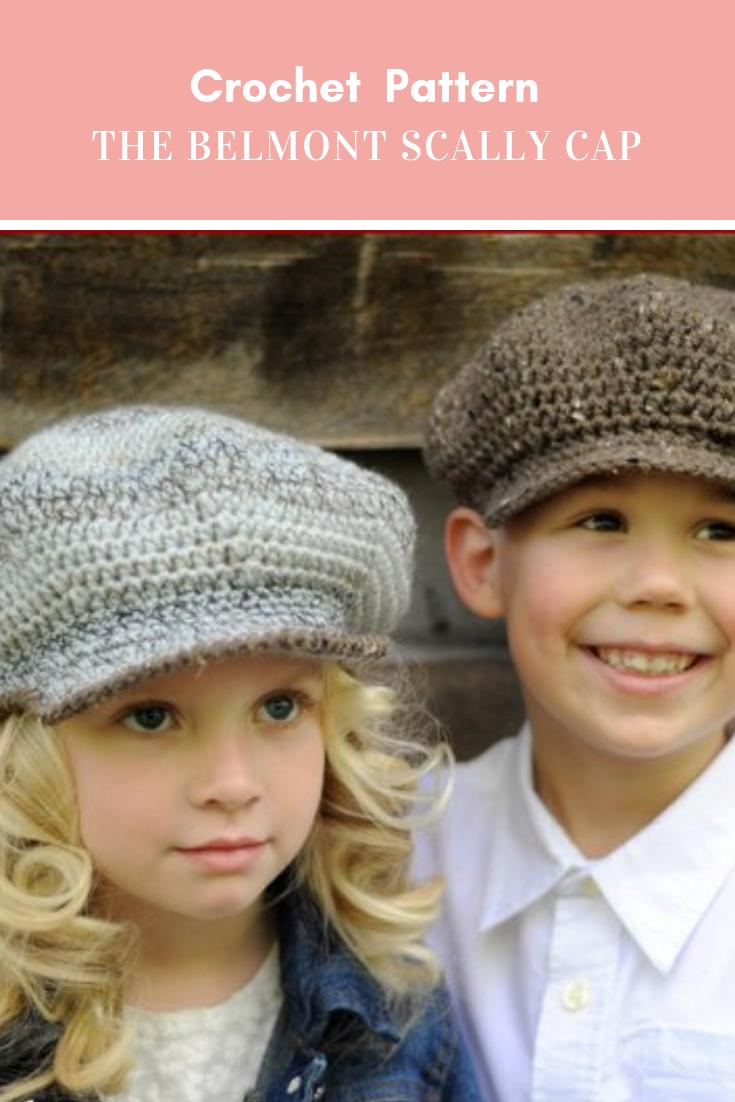 8334ba03d2 Crochet PATTERN - The Belmont Scally Cap, Newsboy Hat, 1920s Hat ...
