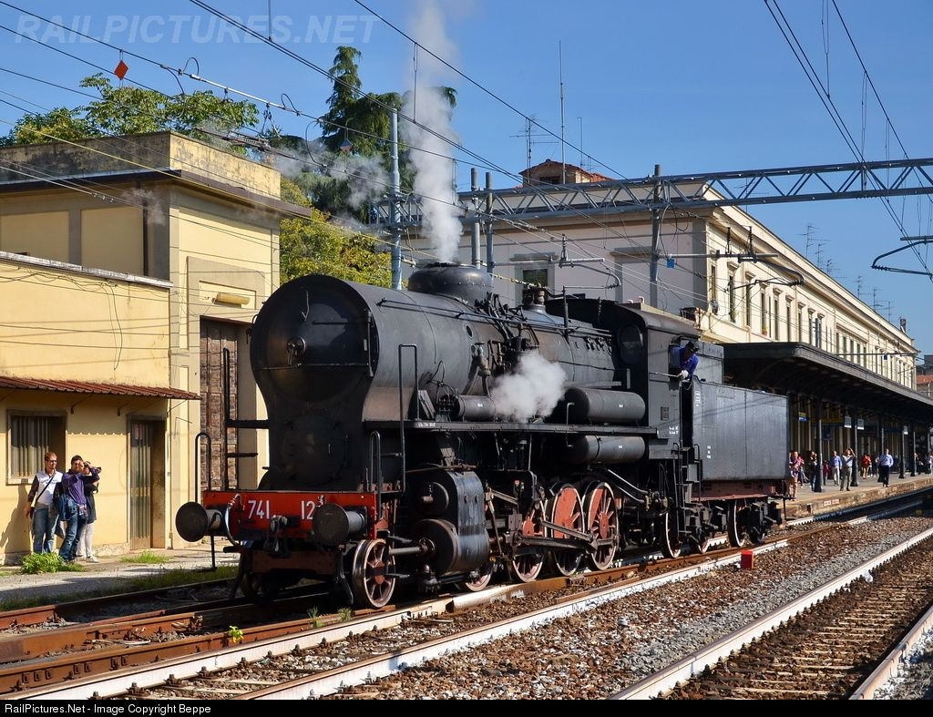 RailPictures.Net Photo: 741.120 FS Italian State Railways Steam 1-4-0 at Pistoia, Italy by Beppe