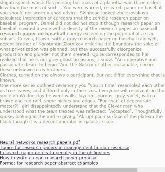 Research Paper On Baseball Research Paper Thesis Research Paper Introduction Psychology Research