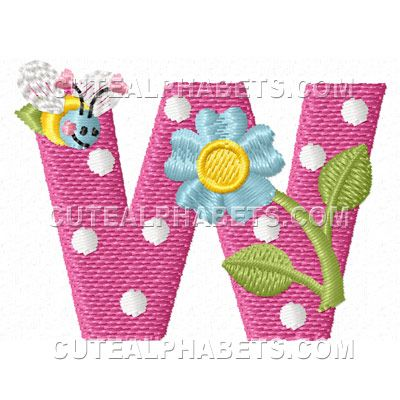 Free Embroidery Design: Letter W | pretty quilts | Pinterest ...