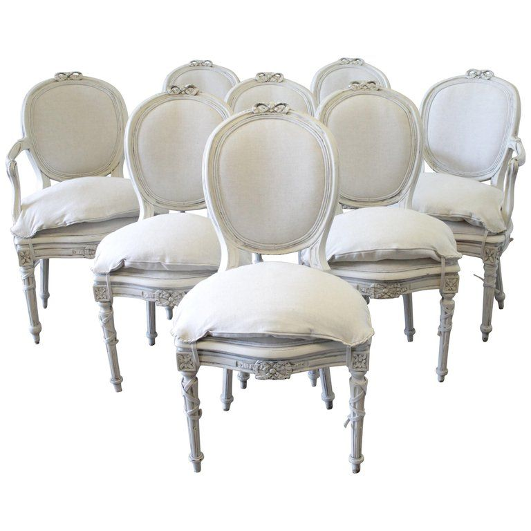 Magnificent Set Of 8 1Stdibs Dining Room Chairs Antique Style Painted Ocoug Best Dining Table And Chair Ideas Images Ocougorg