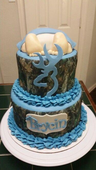 Amyu0027s Crazy Cakes   Camo Baby Shower Cake