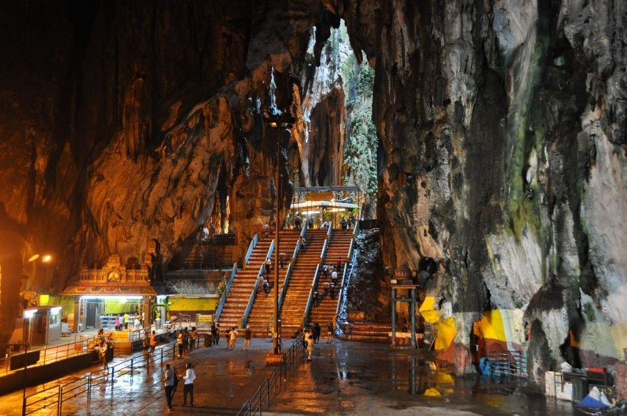 Malaysia.  Hindu shrine in the cave.
