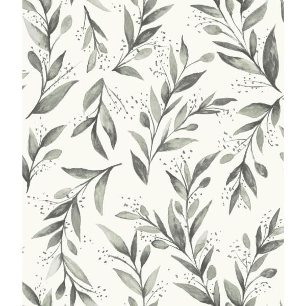 Magnolia Home by Joanna Gaines Olive Branch Charcoal Paper Peelable Roll (Covers 34 sq. ft.)-PSW1003RL - The Home Depot