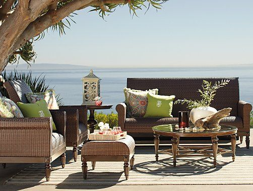 Frontgate Berkeley Outdoor Furniture Collection - Patio Furniture Sets: I am a little bit ready for summer.