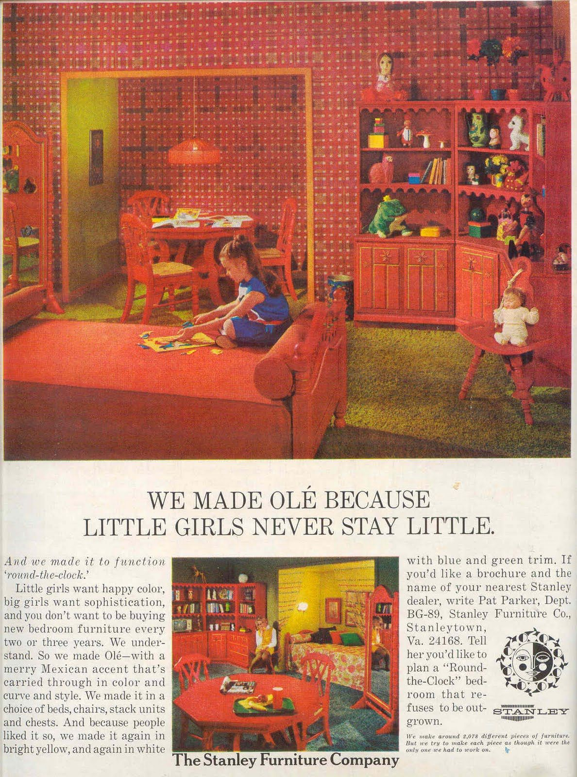 Little Girls Bedroom Sets Ole By Stanley Furniture Retro Vintage Little Girls Bedroom