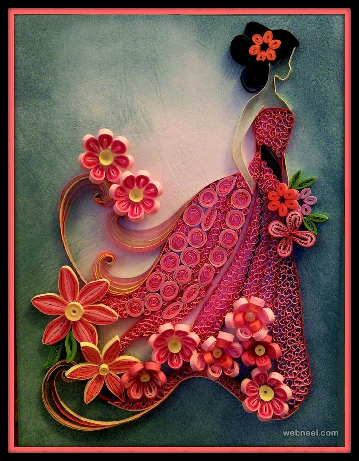 25 beautiful quilling flower designs and paper quilling for How to make a paper design