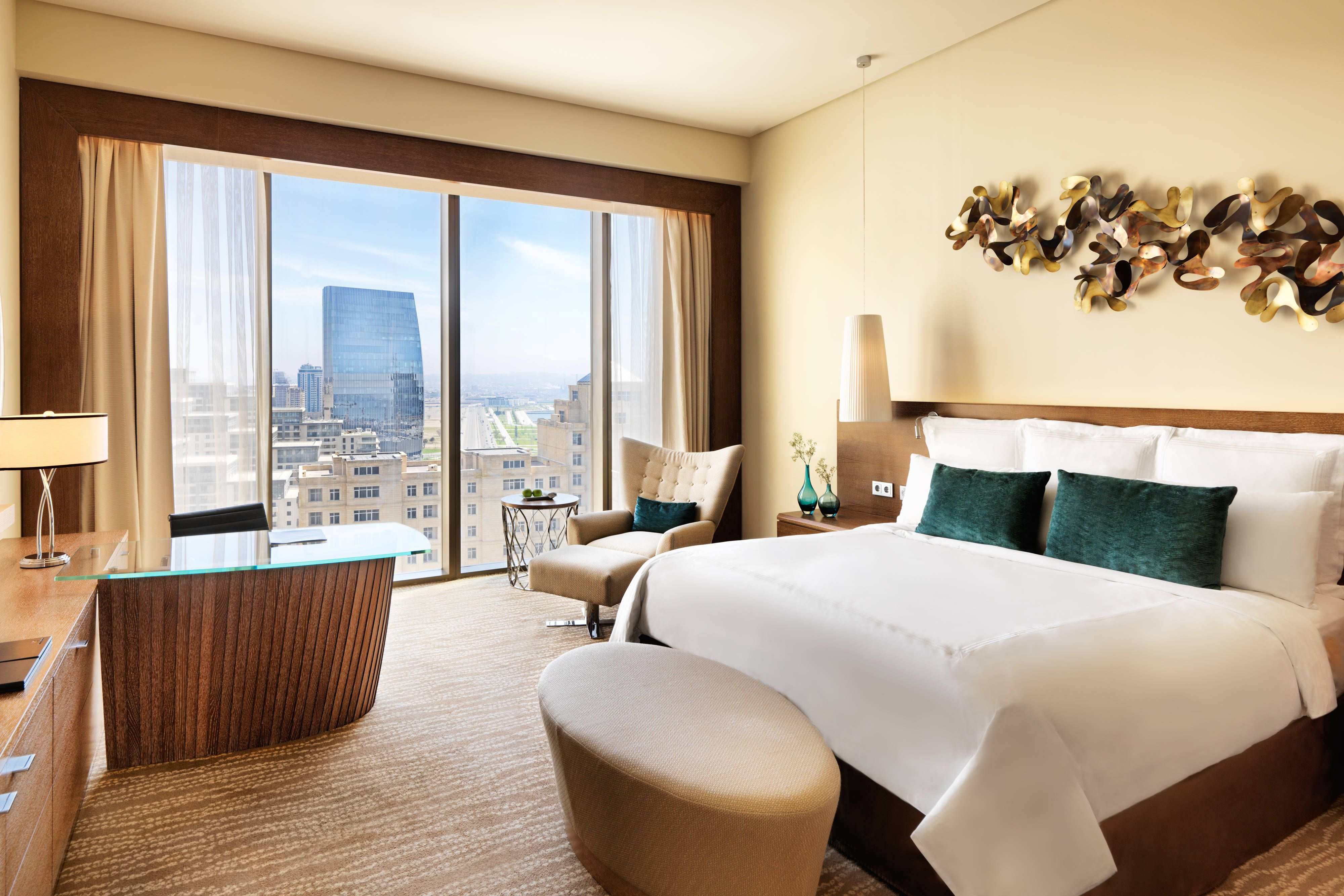Jw Marriott Absheron Baku King Guest Room City View Visiting Traveling Rooms Luxury Accommodation Room Hotel