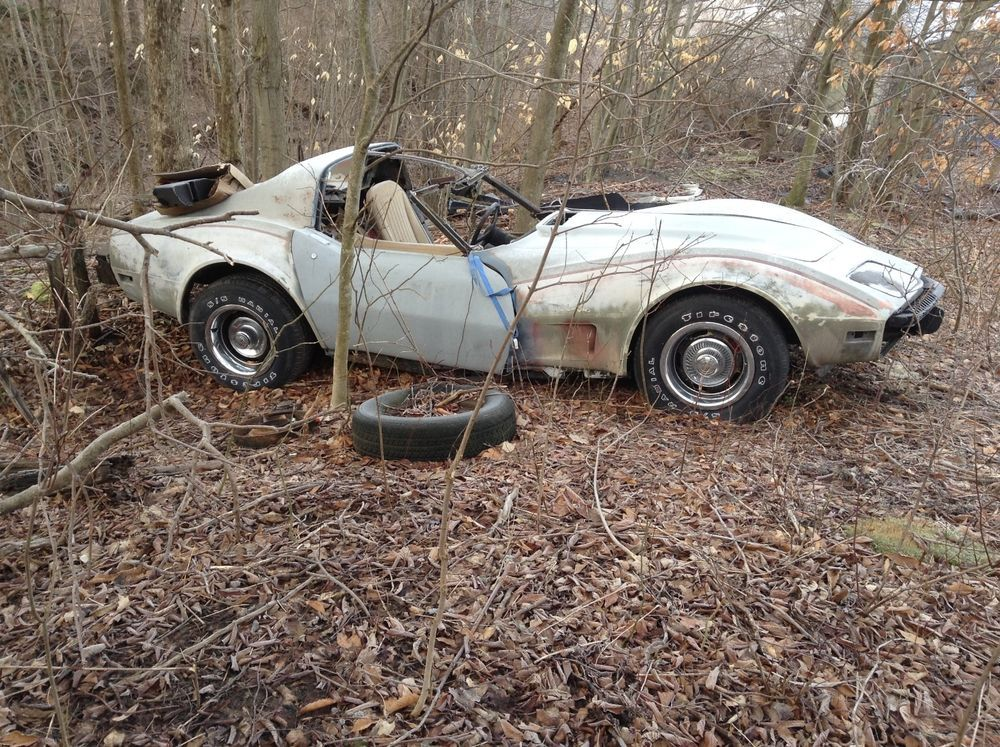 1977 Corvette In A Field. Advertised As Running!